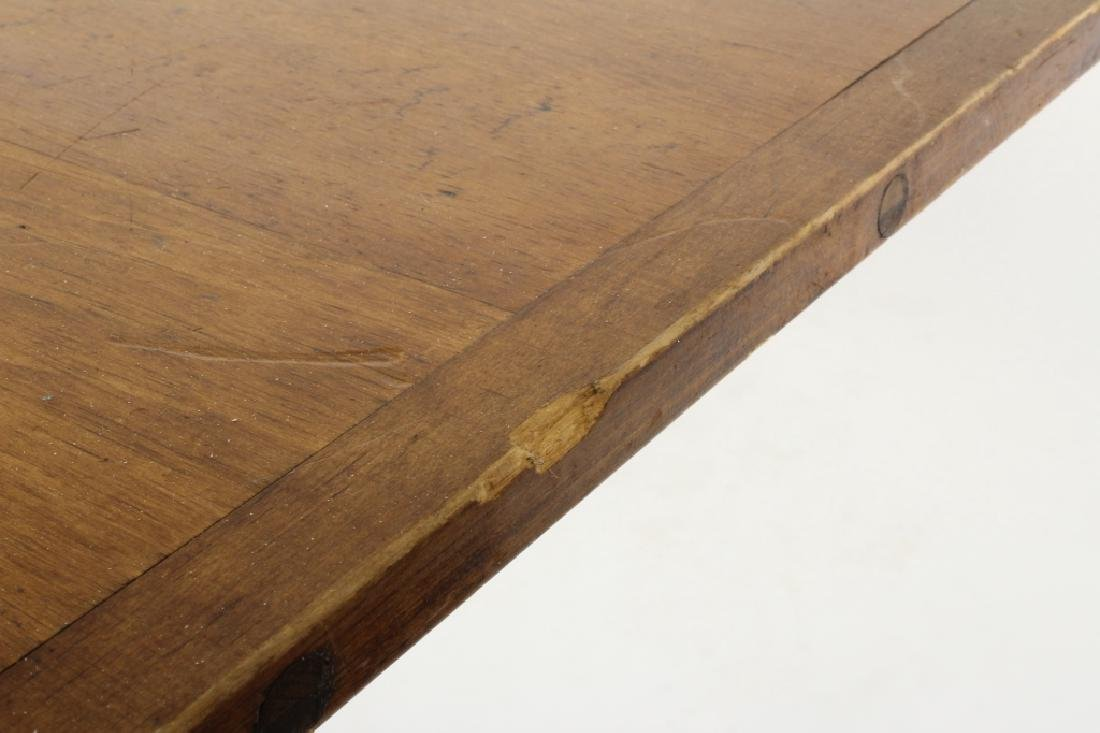 Pine Farm Table w Planked Top, 20th c. - 8