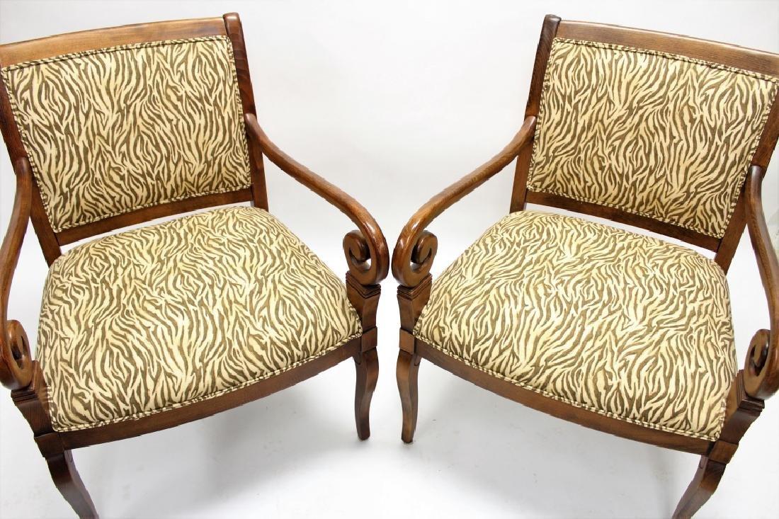 Pr of Ethan Allen Open Armchairs - 2
