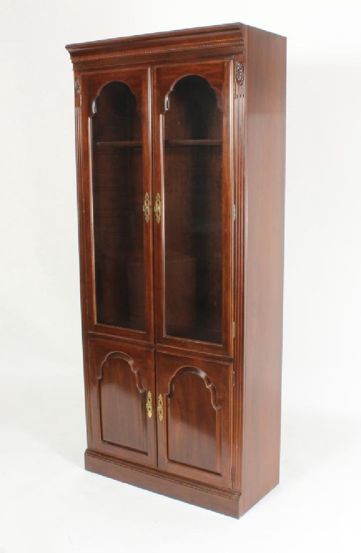 Ethan Allen Mahogany Curio Bookcase Cabinet - 2