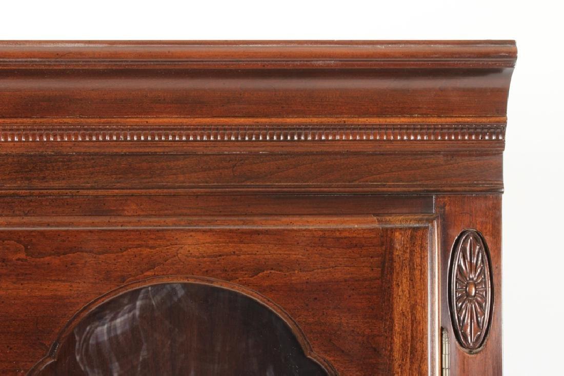 Ethan Allen Mahogany Curio Bookcase Cabinet - 3