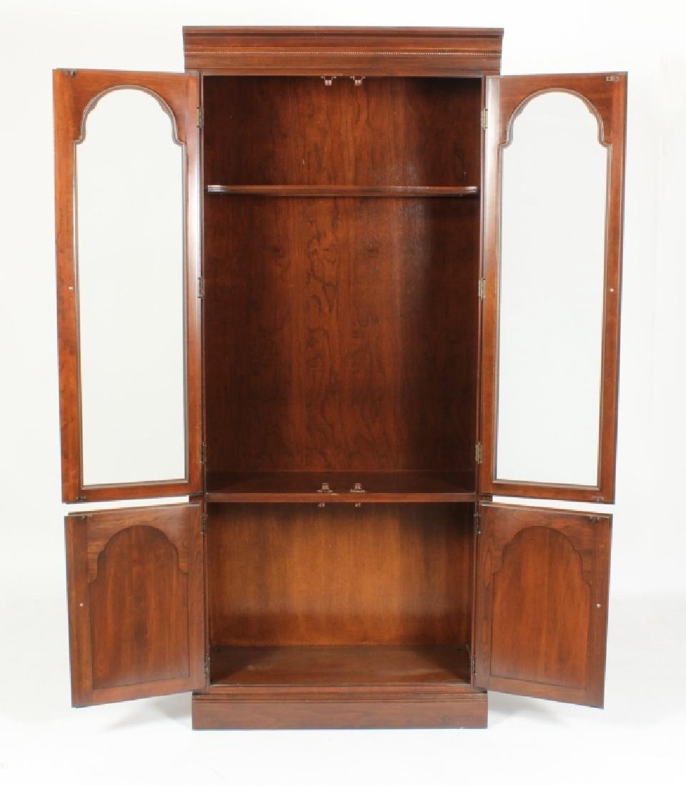 Ethan Allen Mahogany Curio Bookcase Cabinet - 4