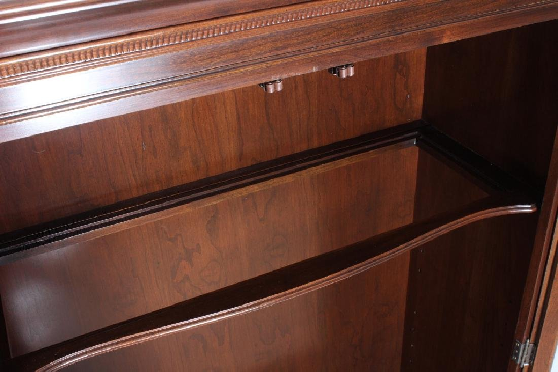 Ethan Allen Mahogany Curio Bookcase Cabinet - 5