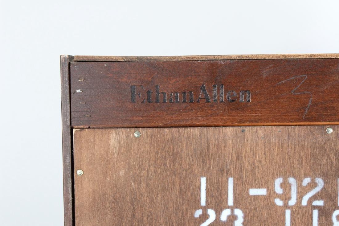 Ethan Allen Mahogany Curio Bookcase Cabinet - 7