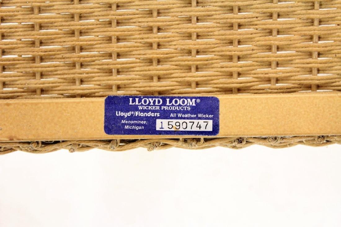 Pair of Lloyd Loom Wicker Patio Rocking Chairs - 7
