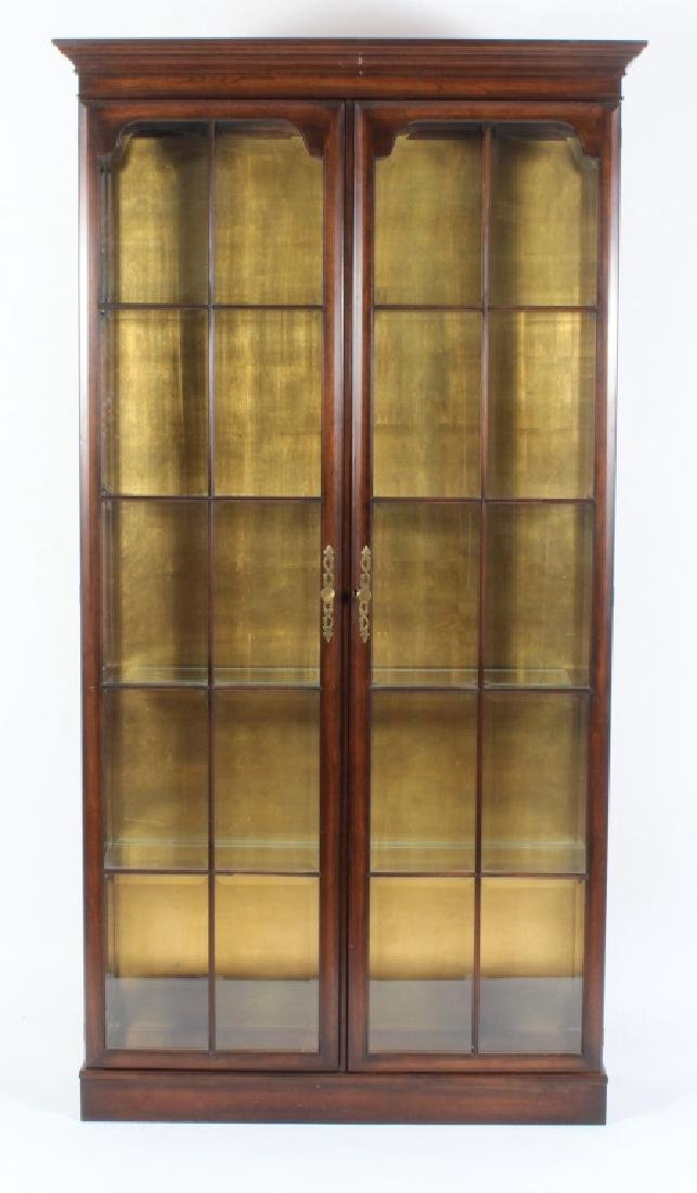 Fruitwood Glazed Curio Cabinet / Bookcase 20th c.