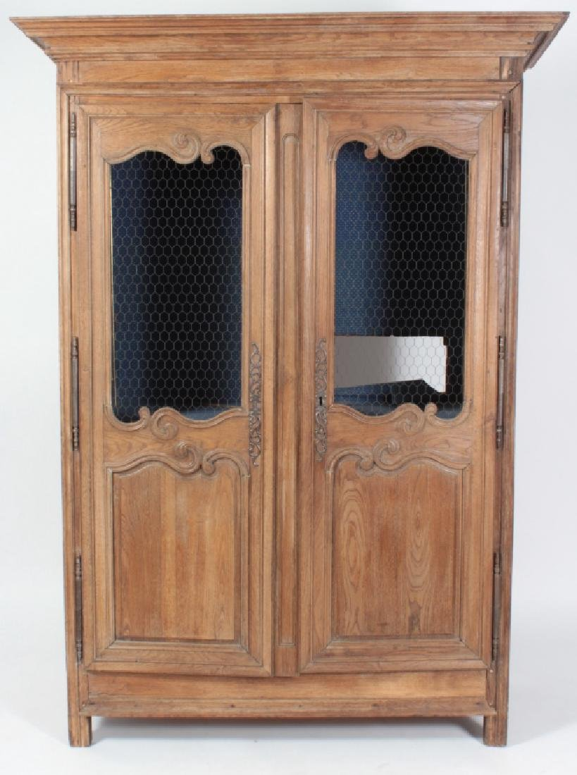 19th c. French Oak  Armoire, Refitted for Shelves
