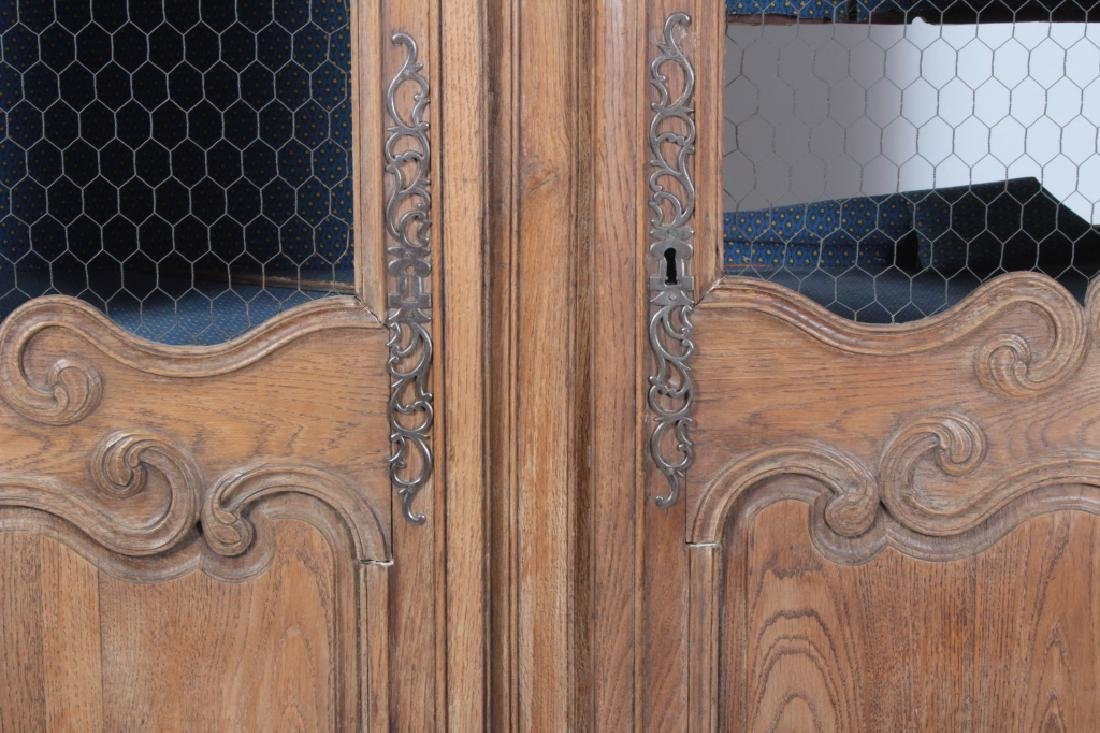 19th c. French Oak  Armoire, Refitted for Shelves - 2