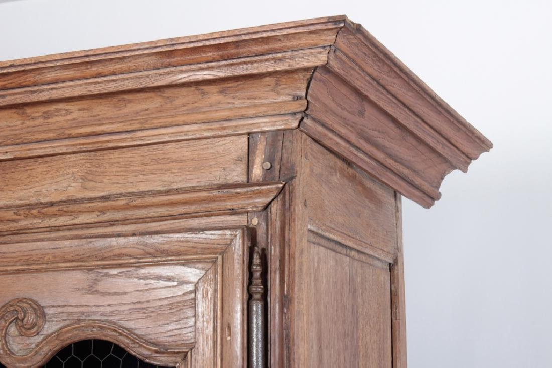 19th c. French Oak  Armoire, Refitted for Shelves - 3