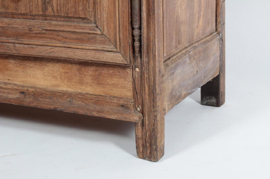19th c. French Oak  Armoire, Refitted for Shelves - 4