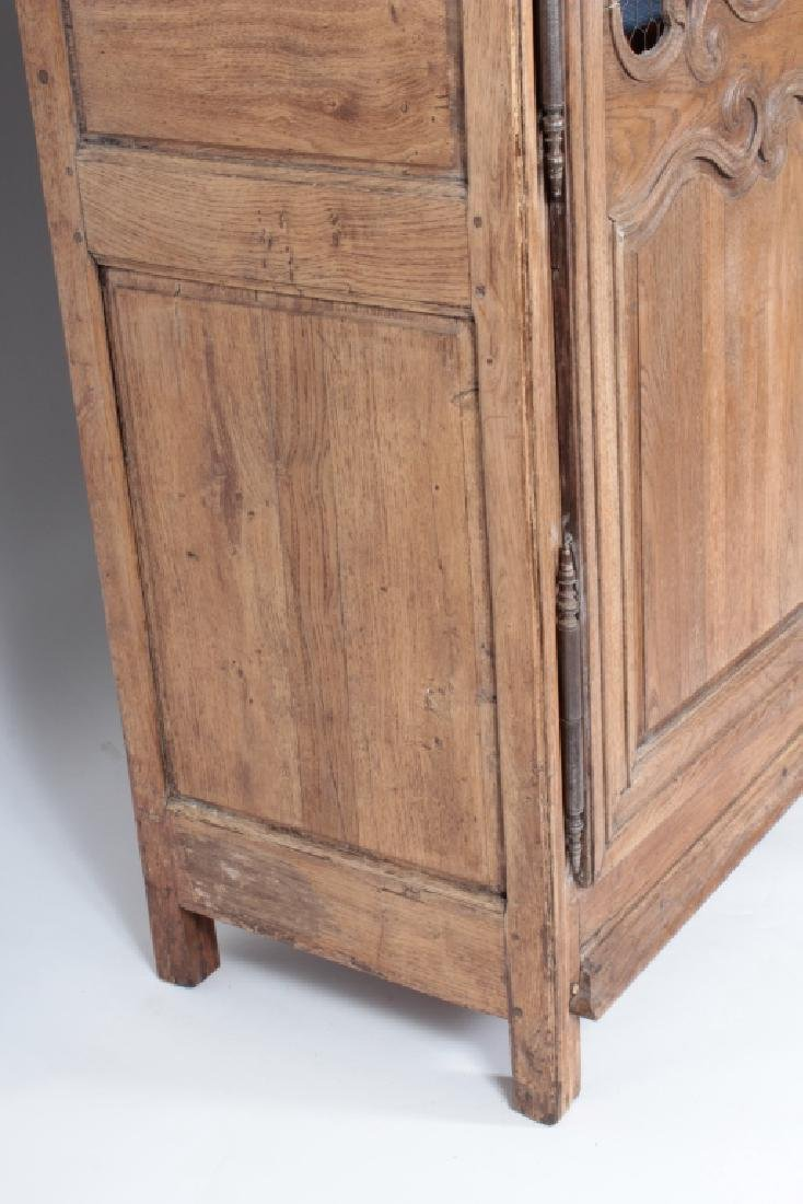 19th c. French Oak  Armoire, Refitted for Shelves - 5