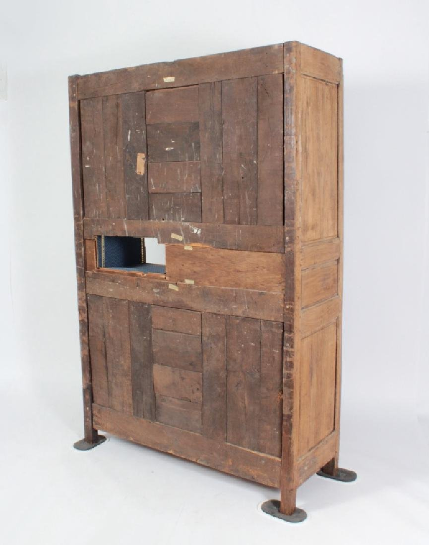 19th c. French Oak  Armoire, Refitted for Shelves - 9