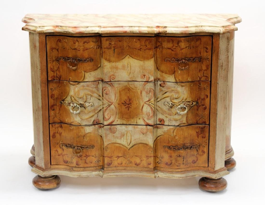 Habersham Plaza Collection Faux Painted Commode