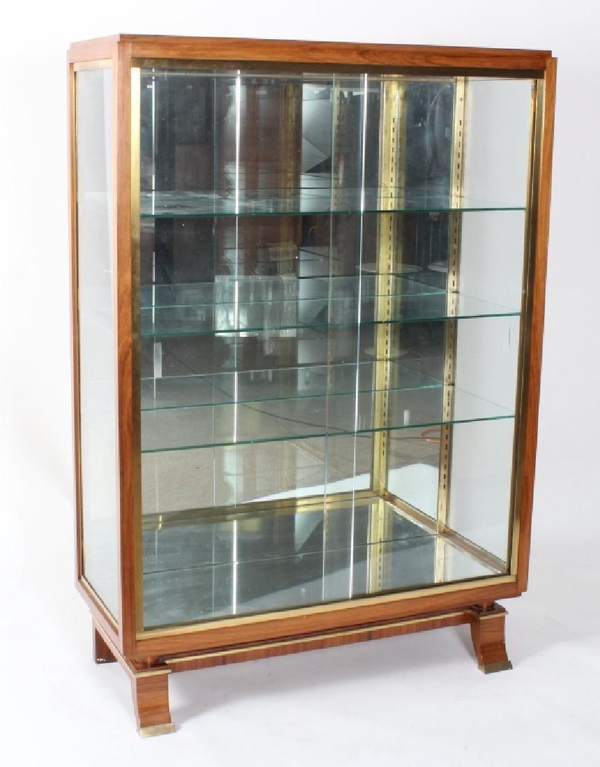 Art Deco Exotic Wood Curio Cabinet, c. 1930