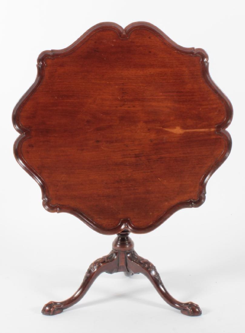 George III Mahogany Pie Crust Tripod Table