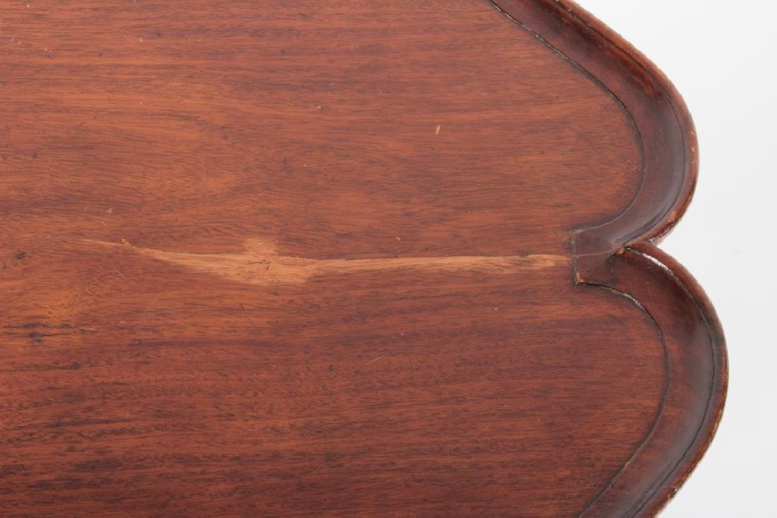 George III Mahogany Pie Crust Tripod Table - 3