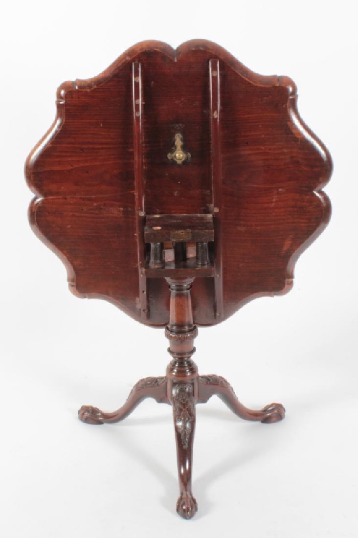 George III Mahogany Pie Crust Tripod Table - 4