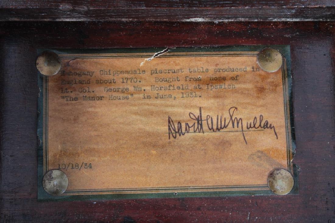 George III Mahogany Pie Crust Tripod Table - 8