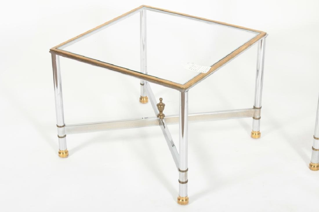 2 Pcs: Chrome and Glass Etagere and Side Table - 2