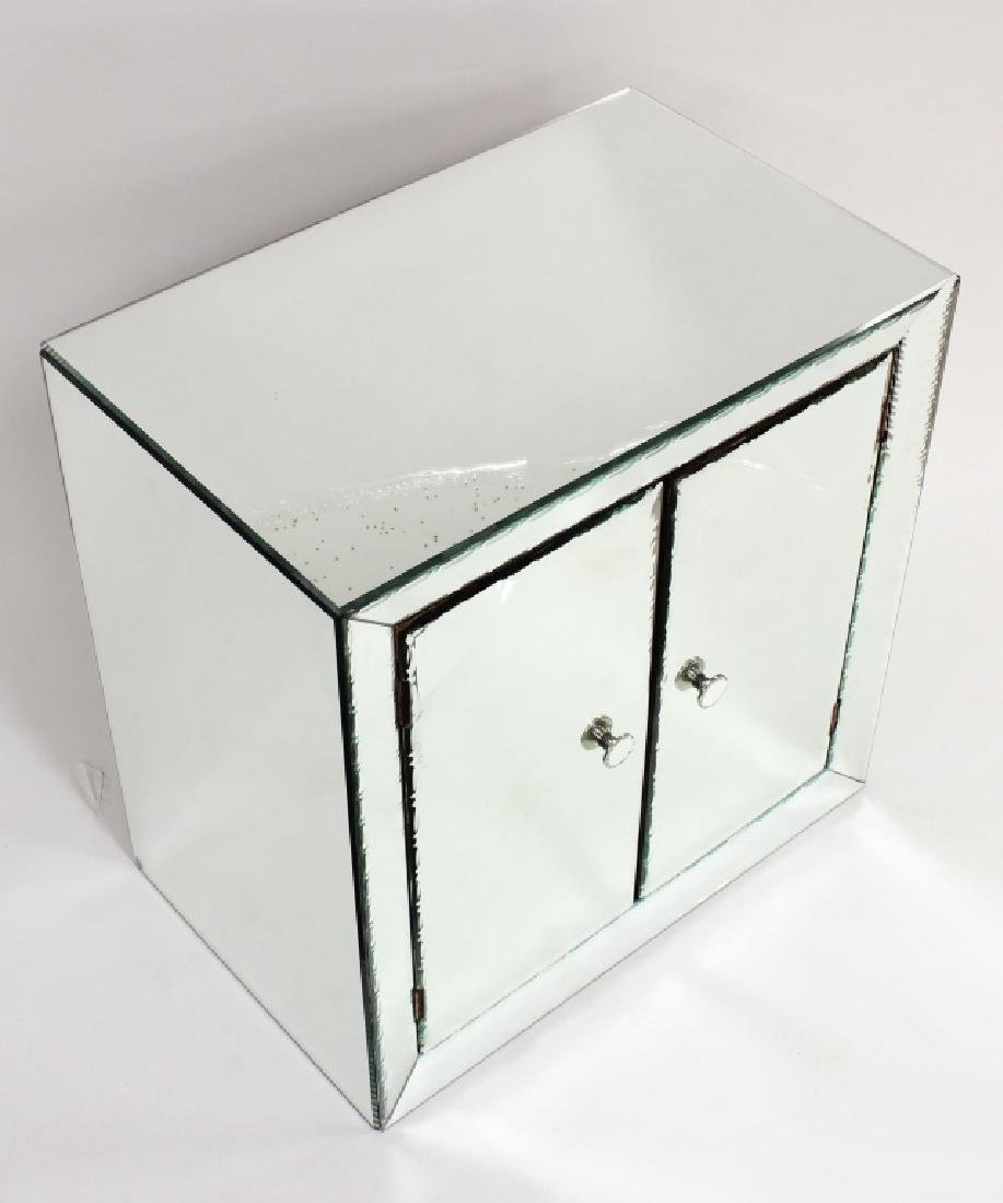 Mirrored Cabinet w/ Decorative Beveled Borders