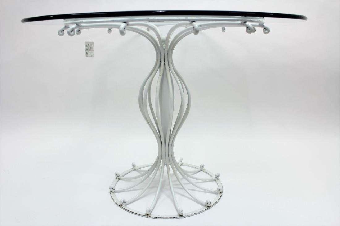 Bistro Table, Metal w/ Round Glass Top, 20th c. - 2