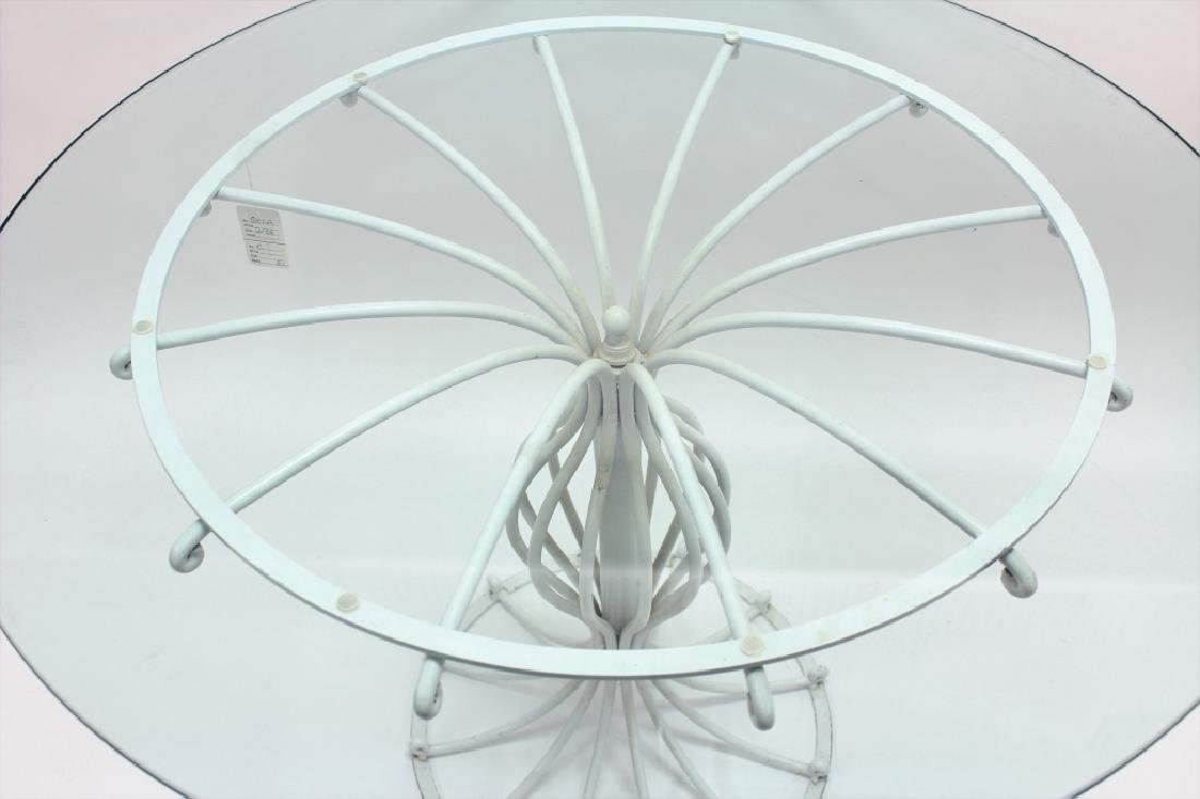 Bistro Table, Metal w/ Round Glass Top, 20th c. - 4