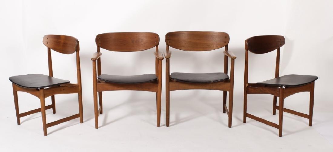4 Arne Holvand-Olsen Teak Danish Modern Chairs