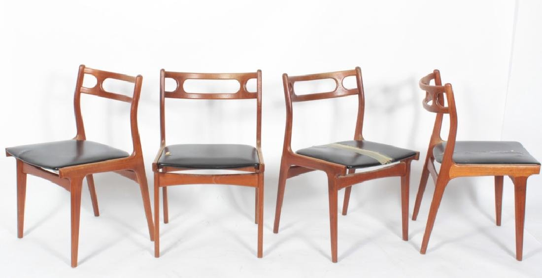 Set of 4 Mid Century Danish Modern Dining Chairs