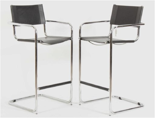 Surprising Pr Mart Stam Chrome Leather Stools Italian Pdpeps Interior Chair Design Pdpepsorg
