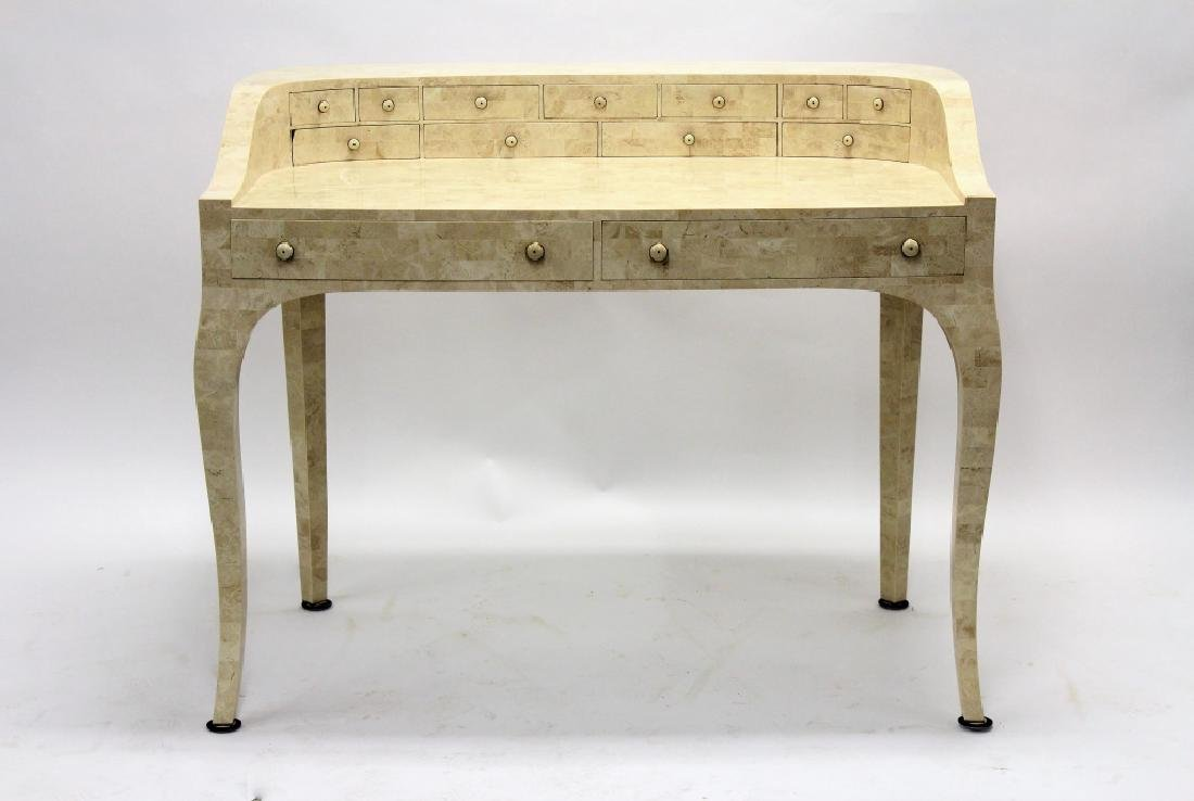 Maitland-Smith Modern Writing Desk Stone Tile
