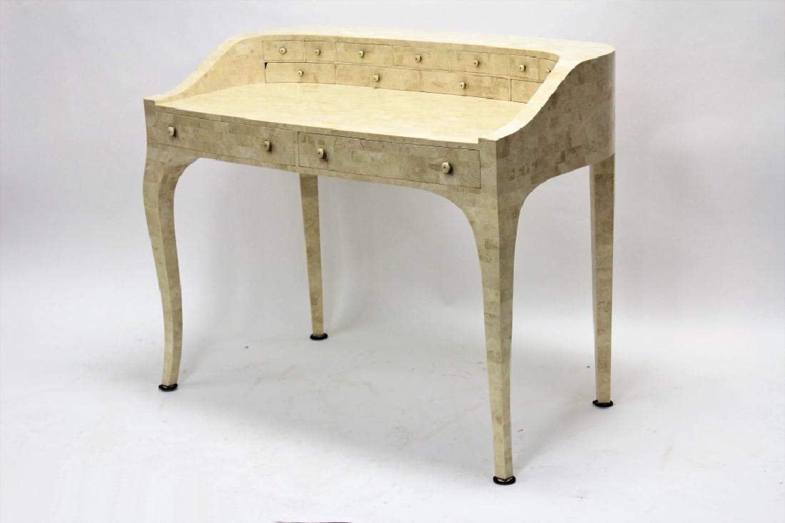 Maitland-Smith Modern Writing Desk Stone Tile - 2