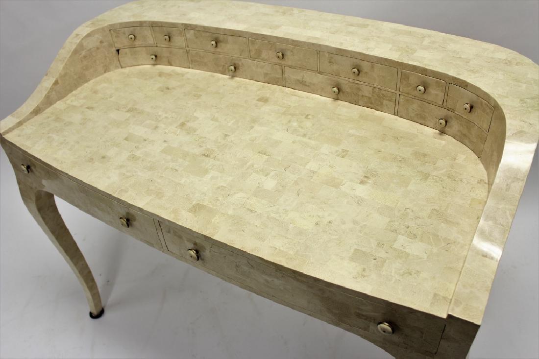 Maitland-Smith Modern Writing Desk Stone Tile - 3