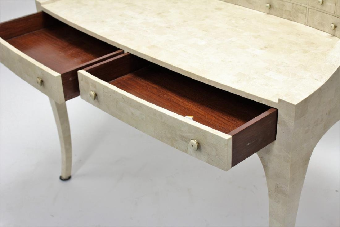 Maitland-Smith Modern Writing Desk Stone Tile - 4