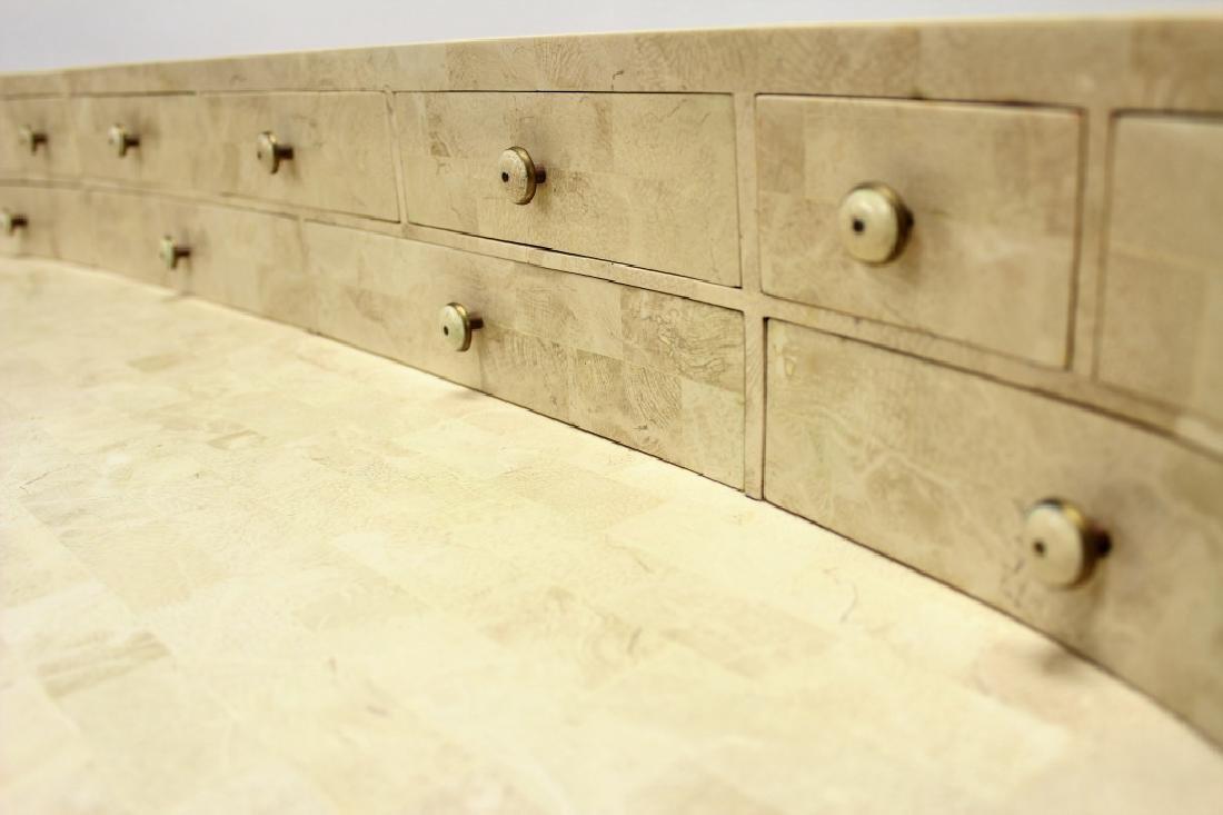 Maitland-Smith Modern Writing Desk Stone Tile - 5
