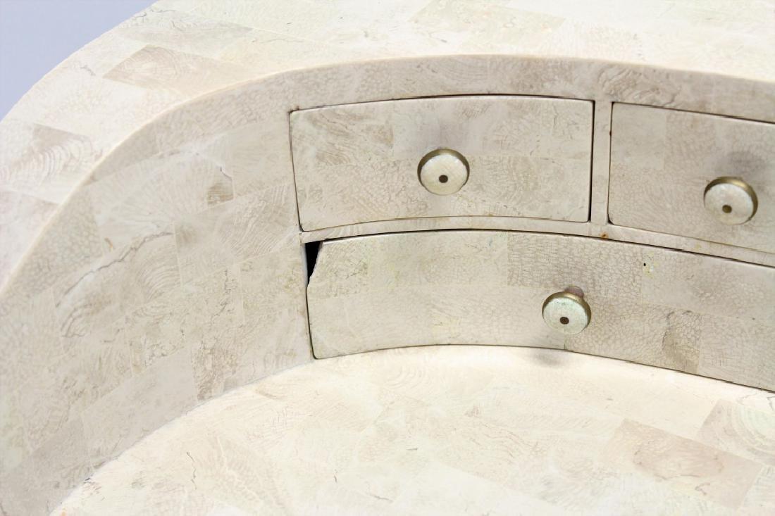 Maitland-Smith Modern Writing Desk Stone Tile - 7