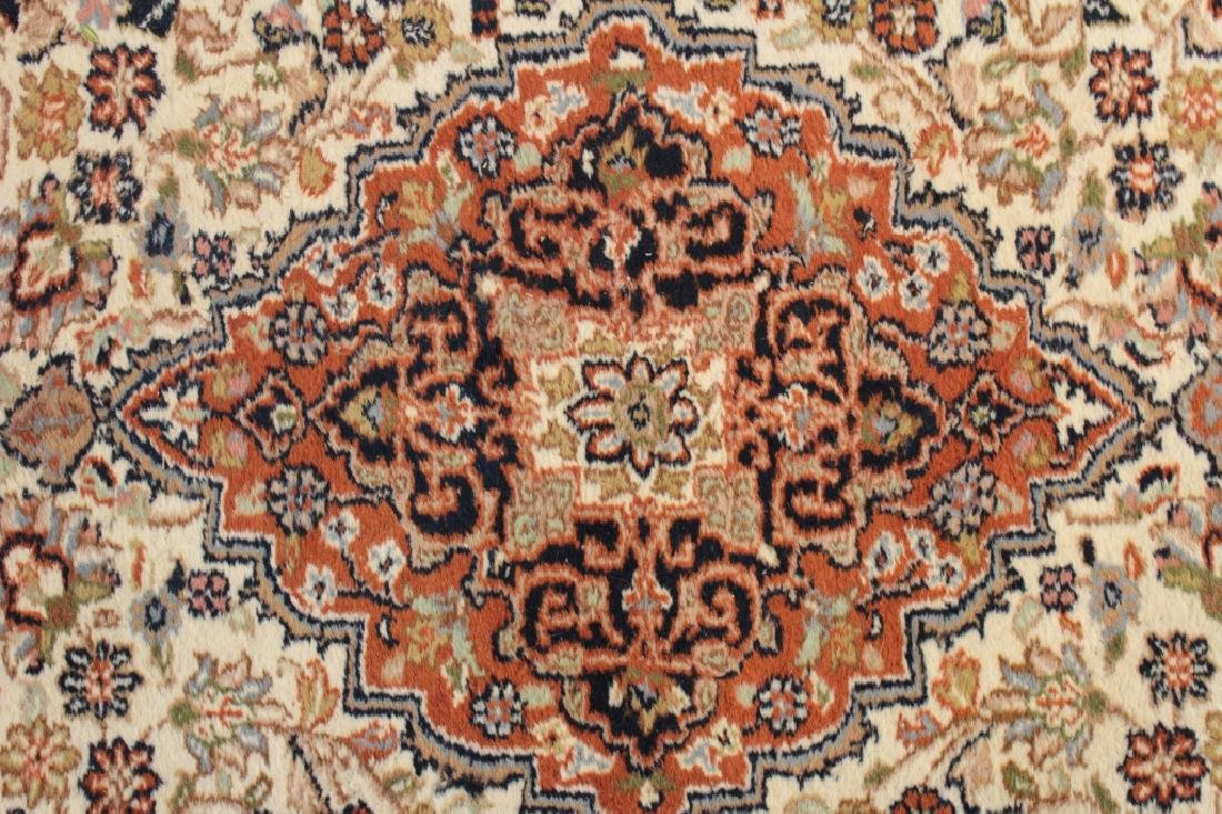Hand Knotted Rug, 20/21st c., Red Pole Medallion