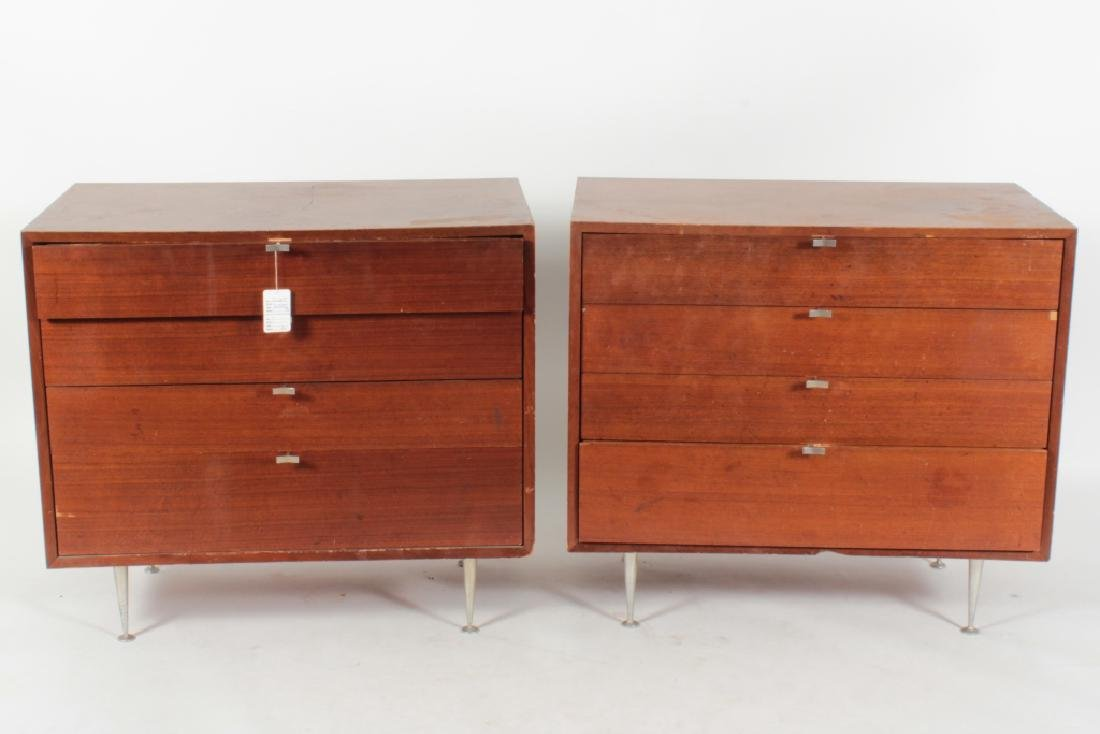 Pair of George Nelson Modern Dressers Metal Legs