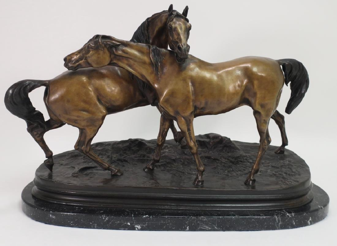 "After P J Mene., ""L'Accolade"" Large Equine Bronze"
