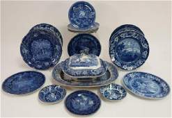 20 Historical Blue Stafffordshire Transferware