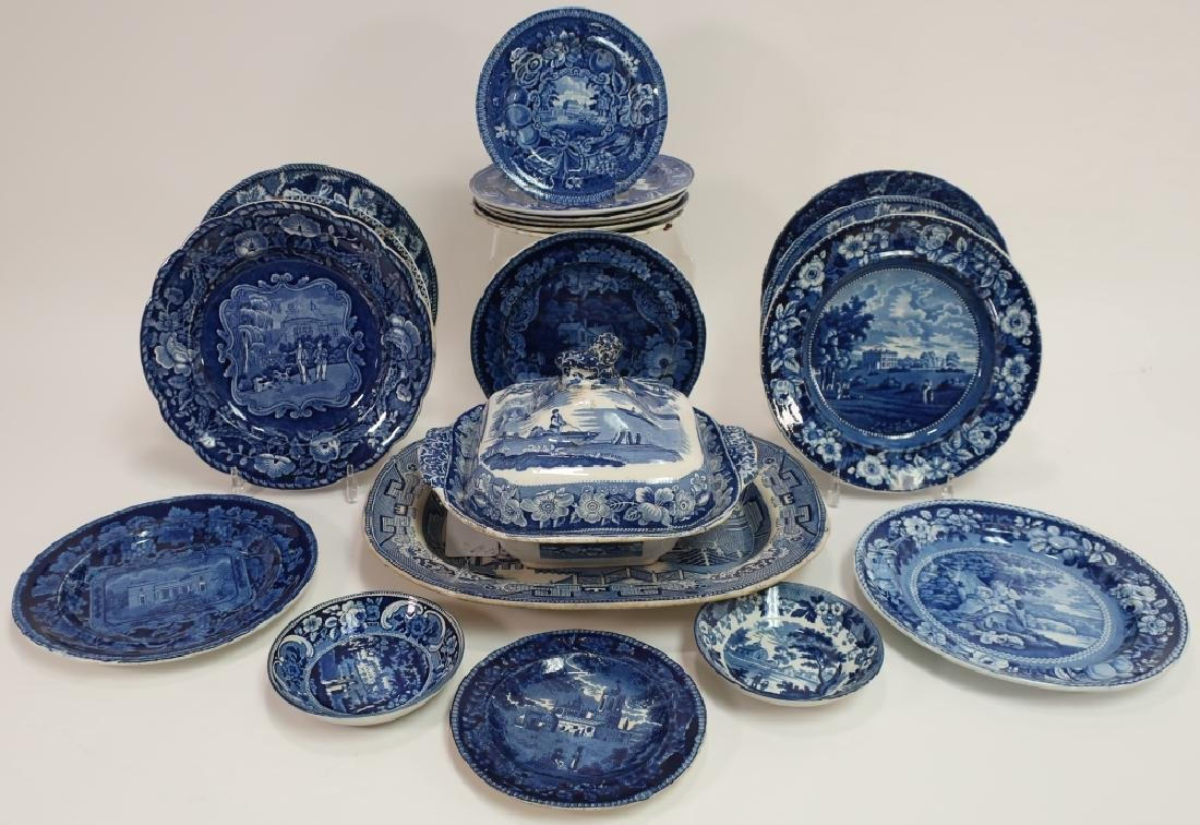 20 Historical Blue Stafffordshire Transferware