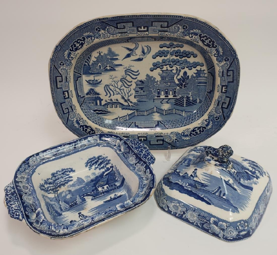 20 Historical Blue Stafffordshire Transferware - 2