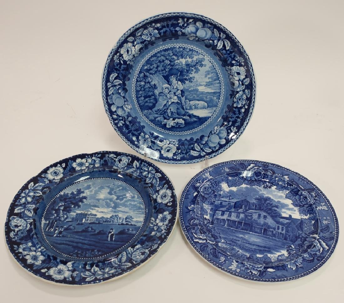 20 Historical Blue Stafffordshire Transferware - 3