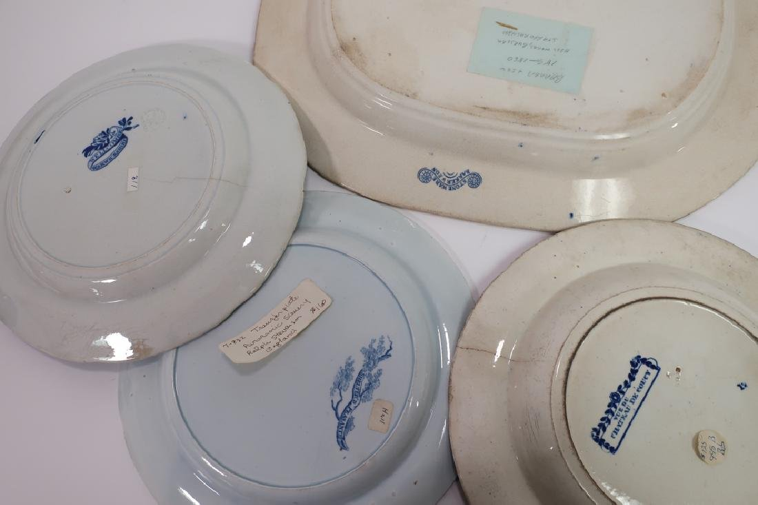 20 Historical Blue Stafffordshire Transferware - 4