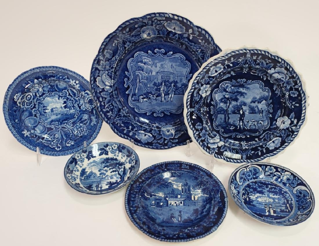20 Historical Blue Stafffordshire Transferware - 5