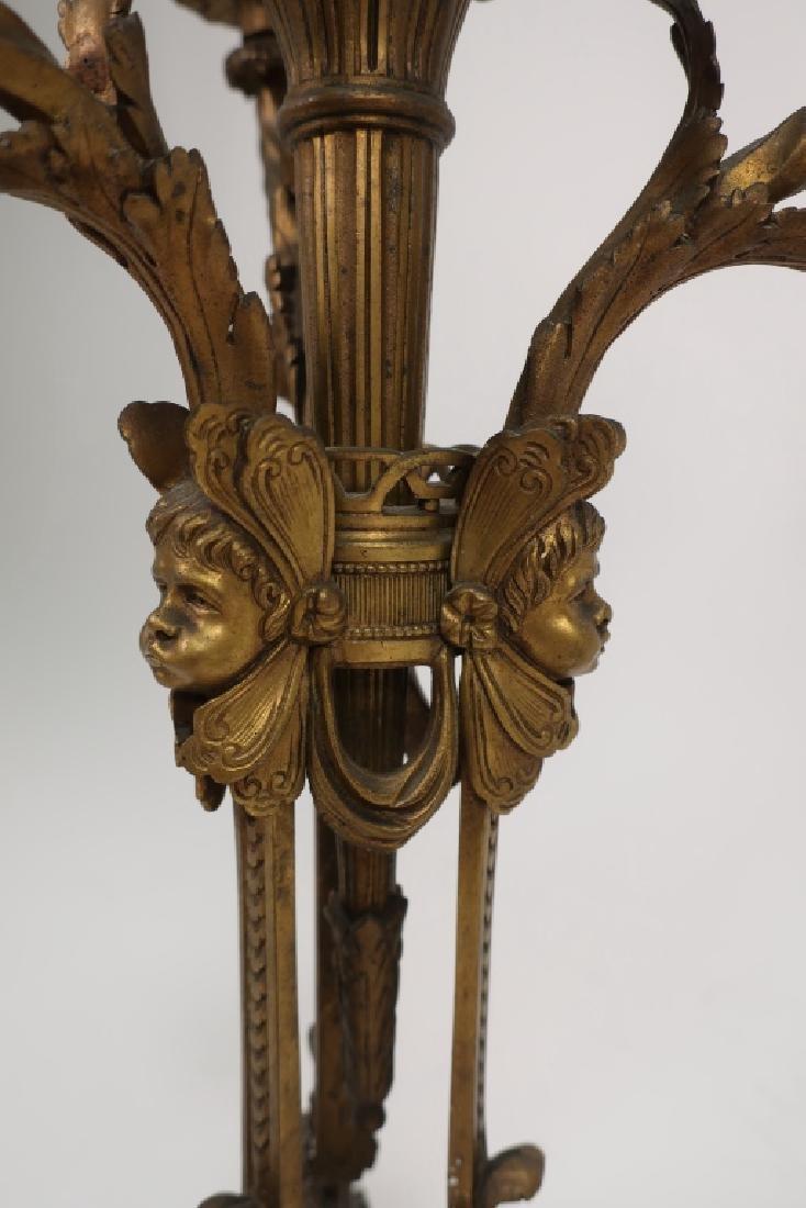 Pr. Empire Style Gilt Bronze 3-Light Candelabra - 3