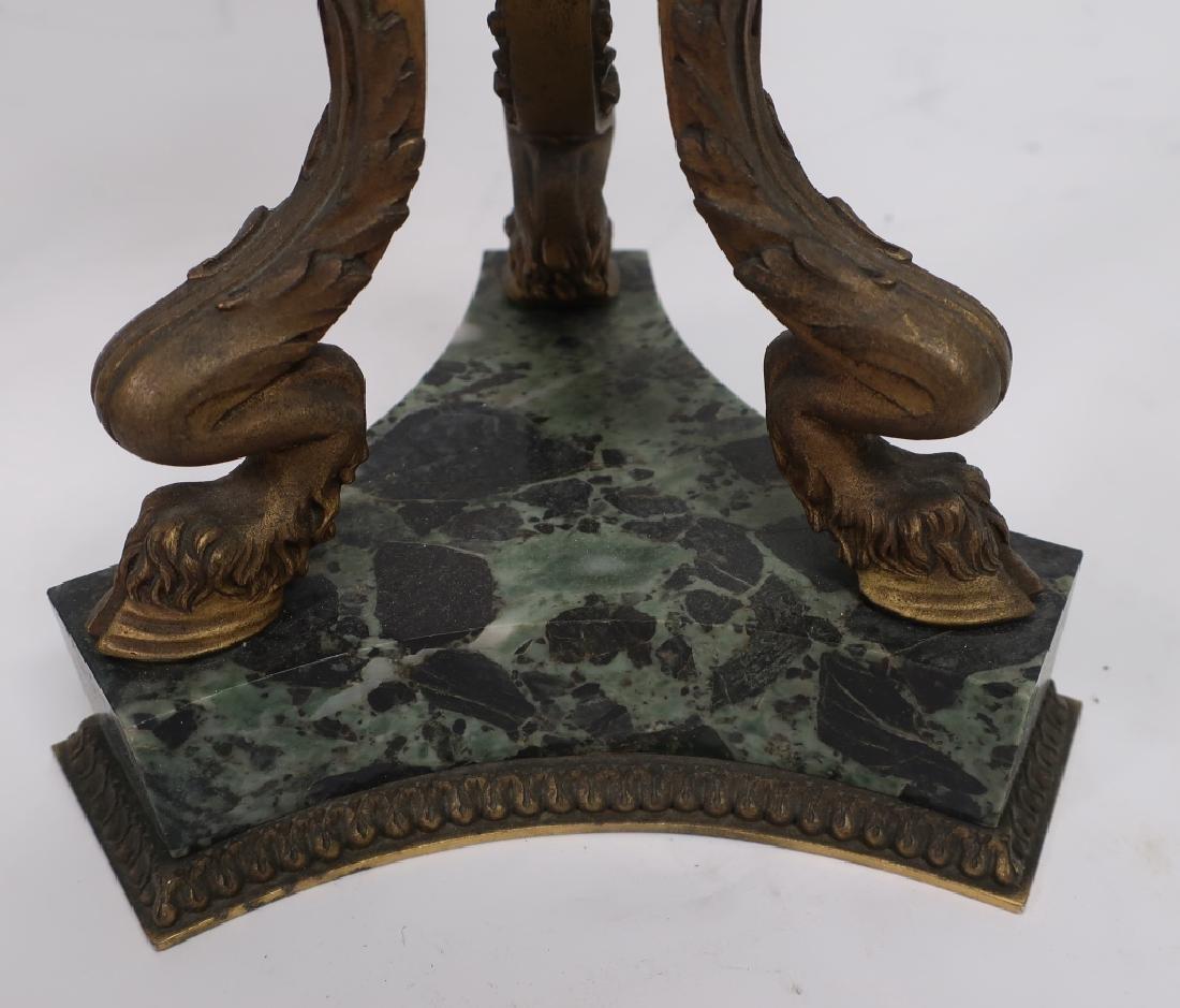Pr. Empire Style Gilt Bronze 3-Light Candelabra - 4