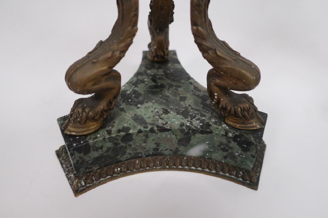 Pr. Empire Style Gilt Bronze 3-Light Candelabra - 5