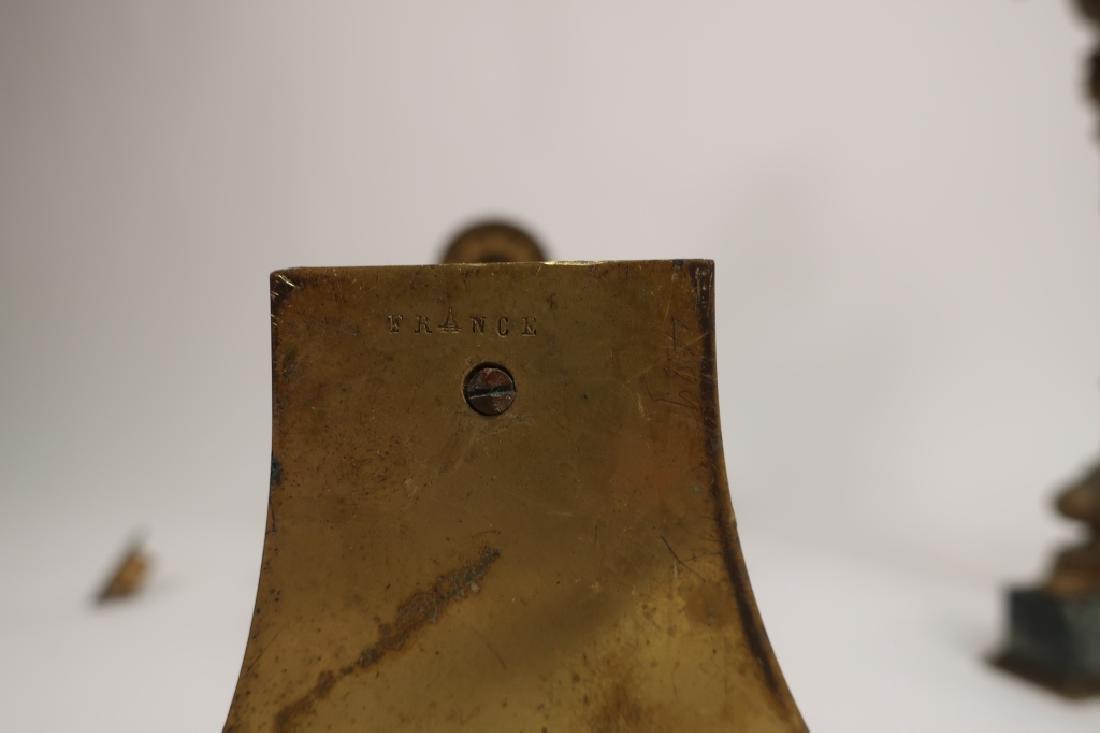 Pr. Empire Style Gilt Bronze 3-Light Candelabra - 8