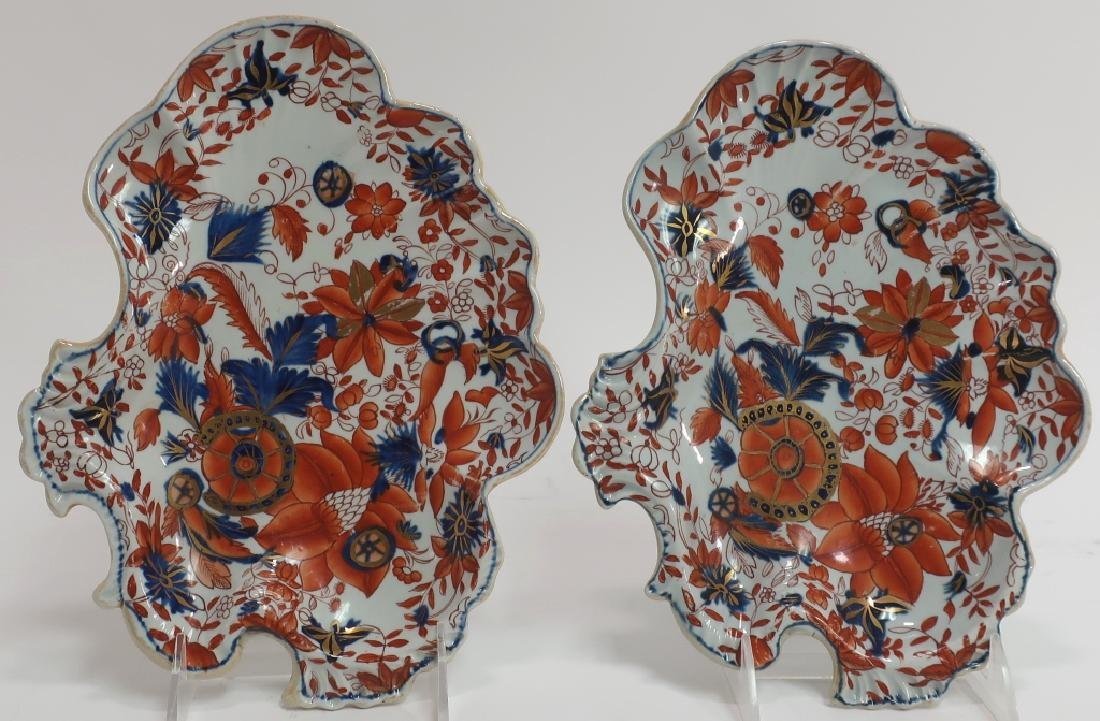 Pair of Ironstone Sweet Meat Dishes, 19th c.