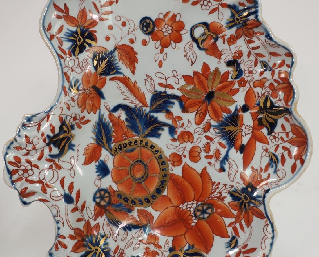 Pair of Ironstone Sweet Meat Dishes, 19th c. - 2
