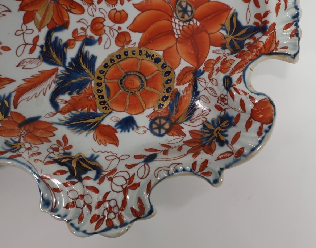 Pair of Ironstone Sweet Meat Dishes, 19th c. - 7